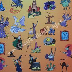 Halloween kartonpapír 1., 28,7x20,6 cm