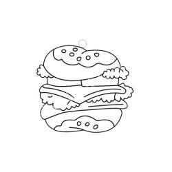 Festhető forma matricafestékhez, hamburger