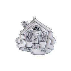 Festhető forma matricafestékhez, ház