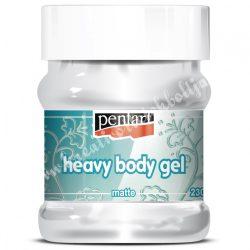 Pentart gélpaszta - heavy body gél - matt, 230 ml