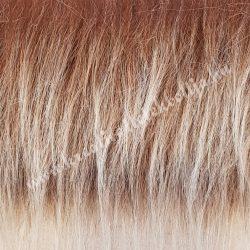 Hosszú szőrű műszőr, barna melanzs, kb. 10x150 cm