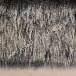 Hosszú szőrű műszőr, ezüstszürke, kb. 10x150 cm