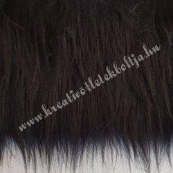Hosszú szőrű műszőr, fekete, kb. 10x150 cm