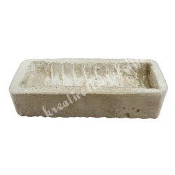 Hosszúkás betontál, 23x5,5x10,5 cm