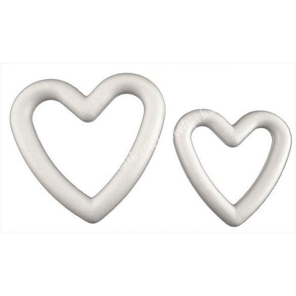 Hungarocell szív alakú koszorú, 25 cm