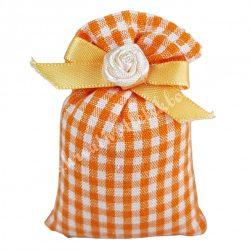 Illatzsák, kockás, narancssárga, 5x7 cm