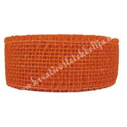 Juta szalag, élénk narancssárga, 5 cm