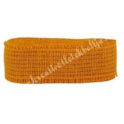 Juta szalag, narancssárga, 5 cm