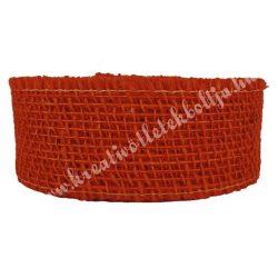Juta szalag, sötét narancssárga, 5 cm