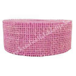 Juta szalag, sötét rózsaszín, 5 cm