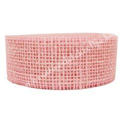 Juta szalag, világos rózsaszín, 5 cm