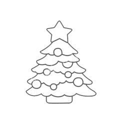 Festhető forma matricafestékhez, karacsonyfa