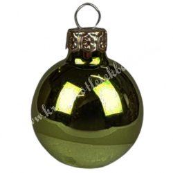Karácsonyfadísz, gömb, sötétzöld, fényes, 4 cm