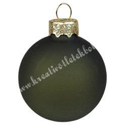 Karácsonyfadísz, gömb, sötétzöld, matt, 4 cm