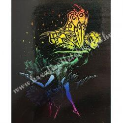 Karckép gravírozó készlet karctűvel, Tündér, szivárvány, 20x25 cm