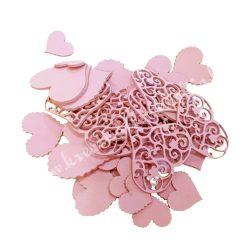Karton szív csomagban, vegyes méretek, rózsaszín