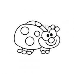 Festhető forma matricafestékhez, katica