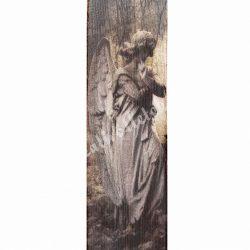 Kegyeleti szalag, angyal szobor mintával