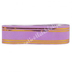 Kegyeleti szalag, lila-arany, 2 cm, 5 m/tekercs