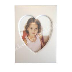 Fém képkeret, szív, 9x6,5 cm, 1 darab
