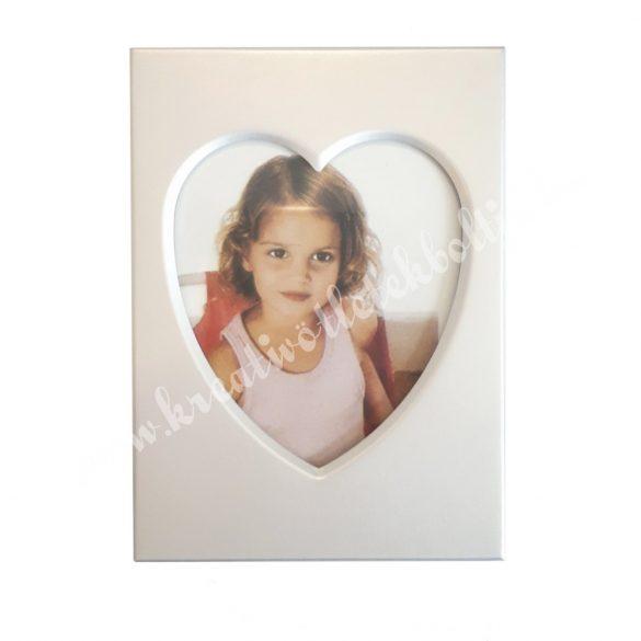 Fém képkeret, szív, 9x6,5 cm