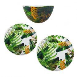 Kerámia szett, trópusi leveles