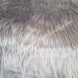 Középhosszú szőrű műszőr, füstszürke, kb. 10x150 cm