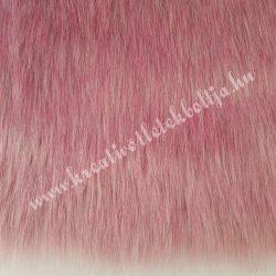 Középhosszú szőrű műszőr, rózsaszín-szürke, kb. 10x150 cm