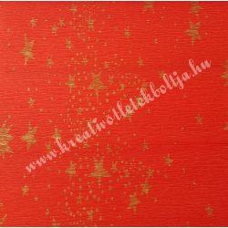 Krepp papír piros arany csillagokkal