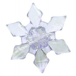 Fűzhető műanyag hópihe, 30x9mm, 1 darab
