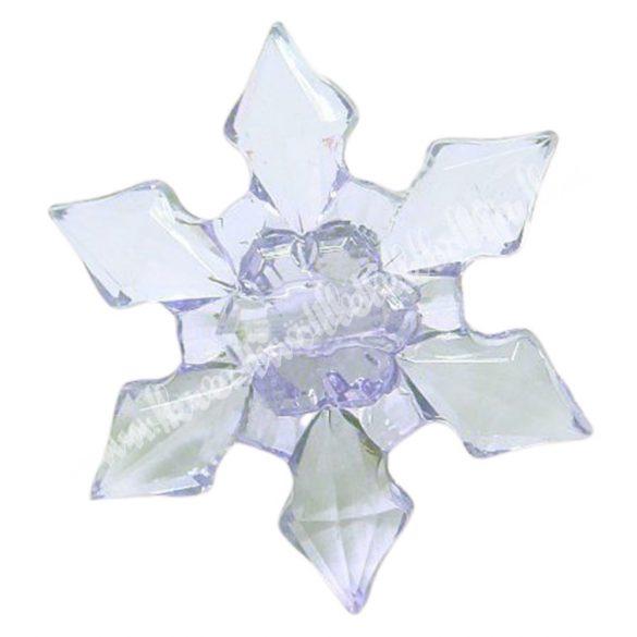 Fűzhető műanyag hópihe, 45x12mm