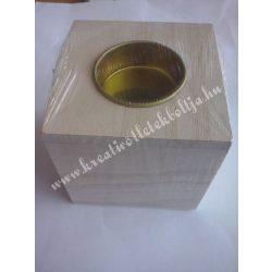 Kocka alakú mécsestartó, 8 cm