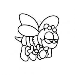 Festhető forma matricafestékhez, méhecske