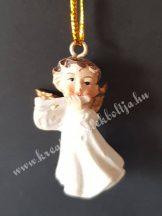 Mini akasztós angyal fuvolával