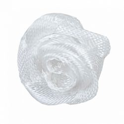 Mini szaténrózsa, fehér, 1,7 cm