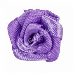 Mini szaténrózsa, lila, 1,7 cm