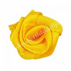 Mini szaténrózsa, mandarin, 1,7 cm
