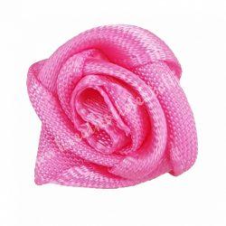 Mini szaténrózsa, pink, 1,7 cm