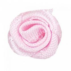 Mini szaténrózsa, rózsaszín, 1,7 cm