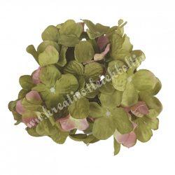 Hortenzia fej, oliva-rózsaszín, kb. 13 cm