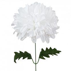 Krizantém szálas, fehér, kb. 52 cm