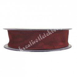 Textil szalag, bordó, 2,5 cm