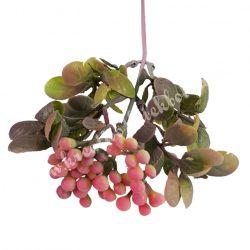 Díszítő ág, bogyós, rózsaszín, 54 cm