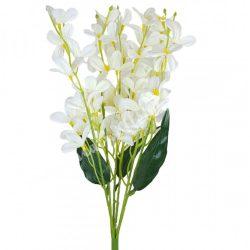 Virágos csokor, fehér, 45 cm