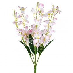 Virágos csokor, halvány rózsaszín, 45 cm