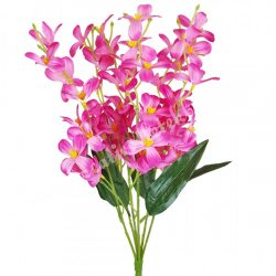 Virágos csokor, pink, 45 cm