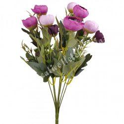 Boglárka csokor, lila-rózsaszín, 40 cm, 10 ág/csokor