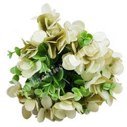 Hortenzia, bukszus köteg, antik zöld, 24 cm, 10 szál/csokor