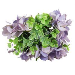 Hortenzia, bukszus köteg, lila, 24 cm, 10 szál/csokor