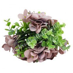 Hortenzia, bukszus köteg, vintage mályva, 24 cm, 10 szál/csokor